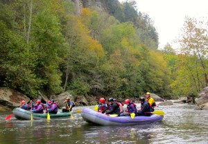 The Sheltowee Trace Outfitters offers guided raft trips on three Kentucky rivers including the Russell Fork. (Photo by Carrie Stambaugh)