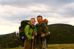 """Carrie """"Mudfoot"""" and Carl """"The Fireman"""" Stambaugh in the Roan Highlands."""