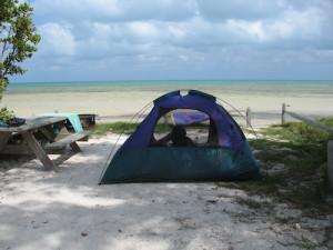 Camp steps away from the ocean at Long Key State Park. (Carl Stambaugh)