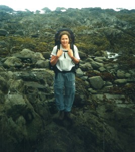 Debbie Kirschner, then 42, in Aug. 2001 on her first backpacking trip in more than 25 years. (Carrie Stambaugh)