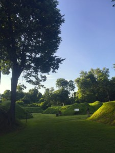 The earthen works in Columbus-Belmont State Park are the remnants of a Confederate Fort built high above the Mississippi River near Columbus, Ky. The fort was fortified with more than 140 cannons, including the Lady Polk that could fire a round upto three miles. (Carrie Stambaugh)
