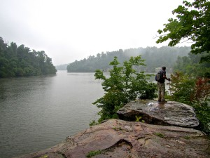Pennyrile State Forest borders Lake Beshear. The 13.5 mile  Pennyrile Nature Trail meanders through the forest offering views of the lake, a popular swimming and fishing destination near Dawson Springs, Ky. (Carrie Stambaugh)