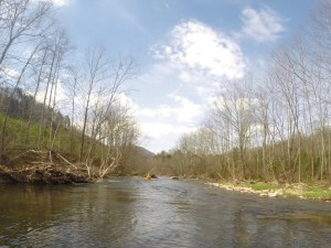 The Poor Fork of the Cumberland River offers 23 miles of scenic paddling between the towns of Cumberland and Harlan, Ky. (Carrie Stambaugh)