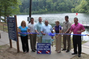 Local and state officials gathered to celebrate the state's first Scuba refuge. (Carrie Stambaugh)