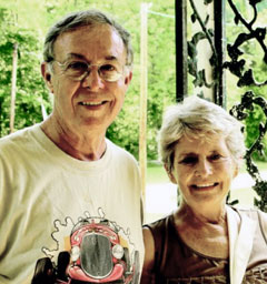 Bill Secrest with his cousin Frances Roberts. The pair are descendants of Benjamin Franklin Bennett, who built Bennett's Mill with his brother Parmoley in the mid 1850s.