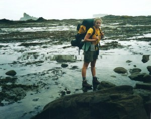 "Carrie ""Mudfoot"" Kirschner Stambaugh at age 18 in 2001. Immediately after graduating high school, she and her mother took a girls trip to Olympic National Seashore."