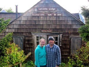 "Carrie ""Mudfoot"" Stambaugh and Carl Stambaugh celebrated their 7th wedding anniversary on Le Conte."