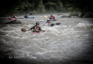 Kayakers work on their skills at the BWA Beginner's Clinic on the Russell Fork. (Kyle Koeberlin, Photo Landmark)